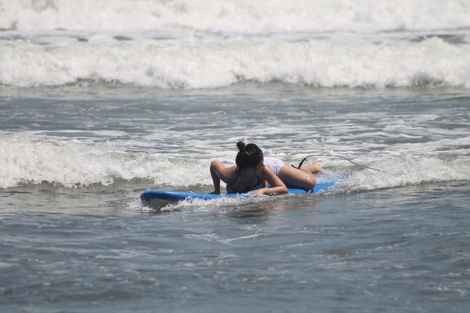 First time surfing in Baler, Aurora