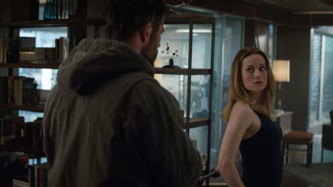 Thor and Captain Marvel in Avengers: Endgame