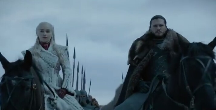 Jon and Dany ride in the North